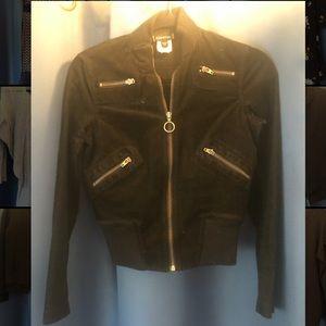 Bebe crop baby corduroy biker jacket